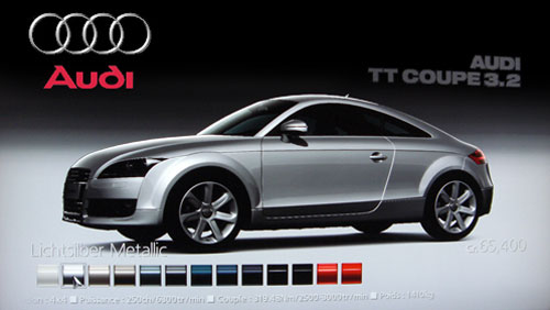 Audi TT Coupe 3.2 quattro de 2007 - GT5 Prologue