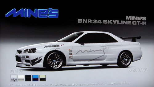 Mine's BNR34 Skyline GTR de 2006 - GT5 Prologue