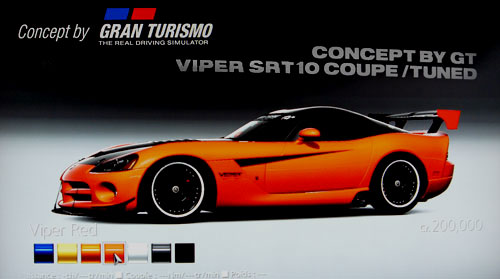 Concept by Gran Turismo Dodge Viper SRT10 Coupe /Tuned de -- - GT5 Prologue