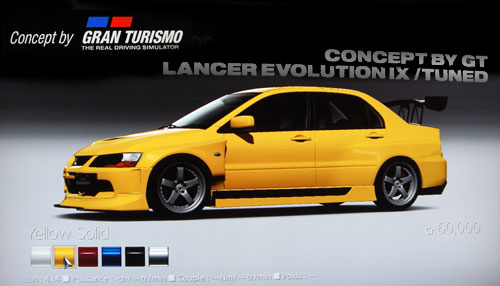 Concept by Gran Turismo Mitsubishi Lancer Evolution IX GSR /Tuned de -- - GT5 Prologue