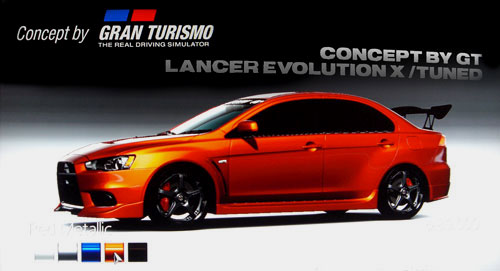 Concept by Gran Turismo Mitsubishi Lancer Evolution X GSR Premium Package /Tuned de -- - GT5 Prologue